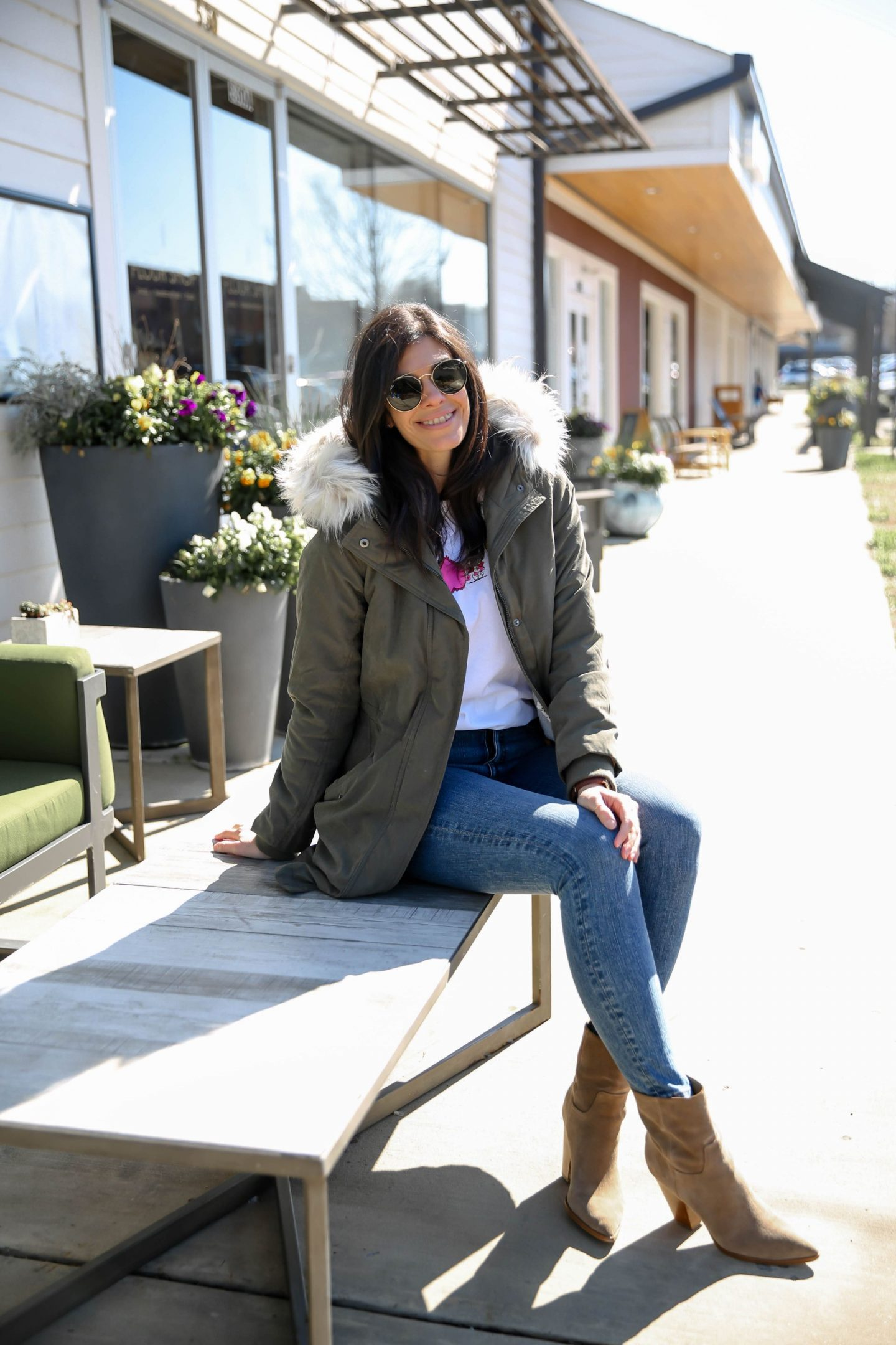 Casual Chic Winter Outfit - Olive Green Coat - Lauren Schwaiger Style Blog