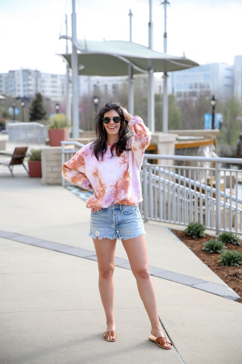 tie dye pullover - urban outfitters - Lauren Schwaiger Style Blog