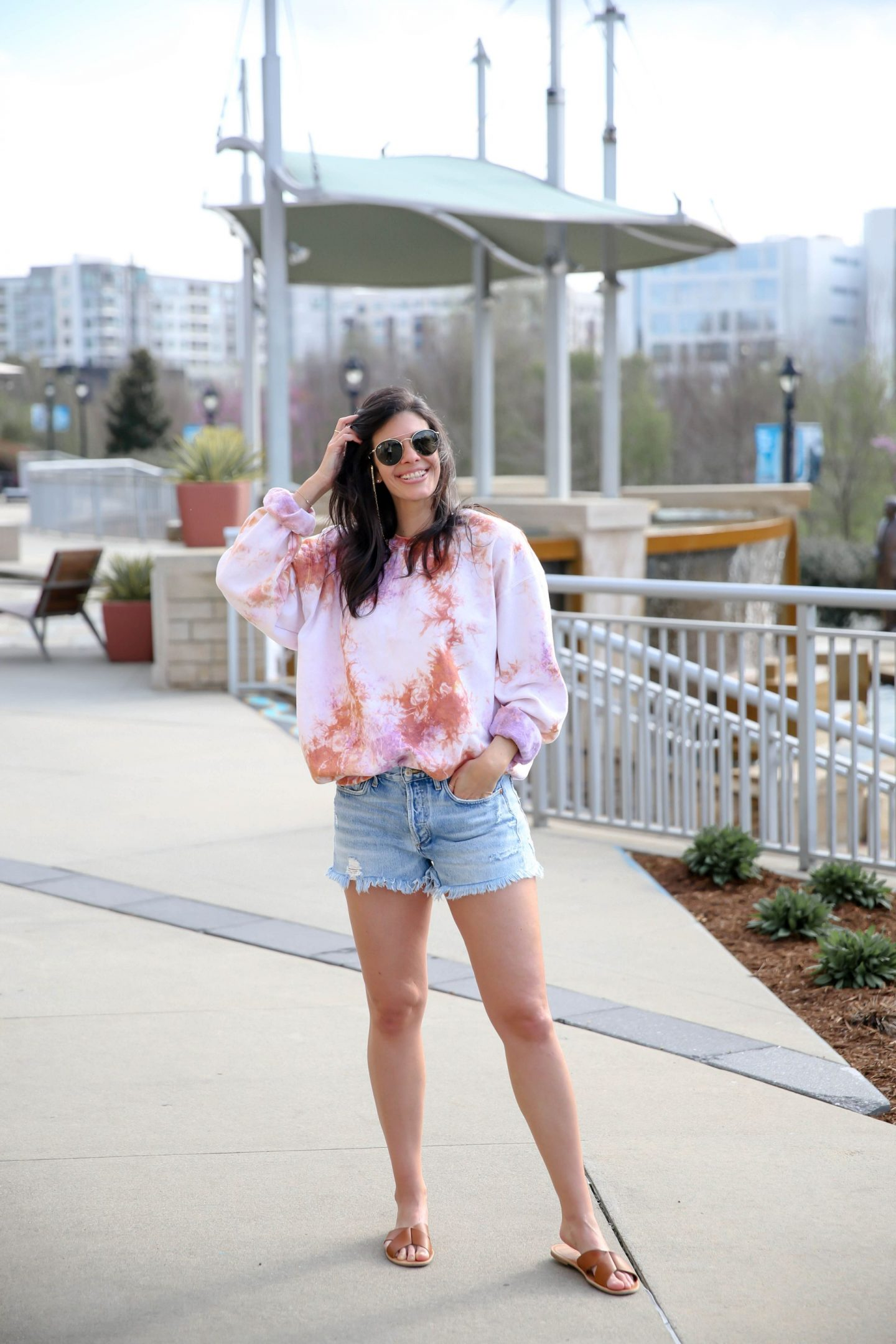 tie dye pullover - urban outfitters - Lauren Schwaiger style Blogger