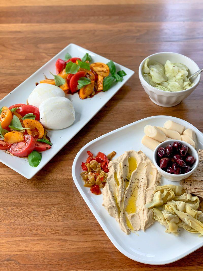simple summer meal ideas - summer salads - mezze platter - Lauren Schwaiger healthy living blog