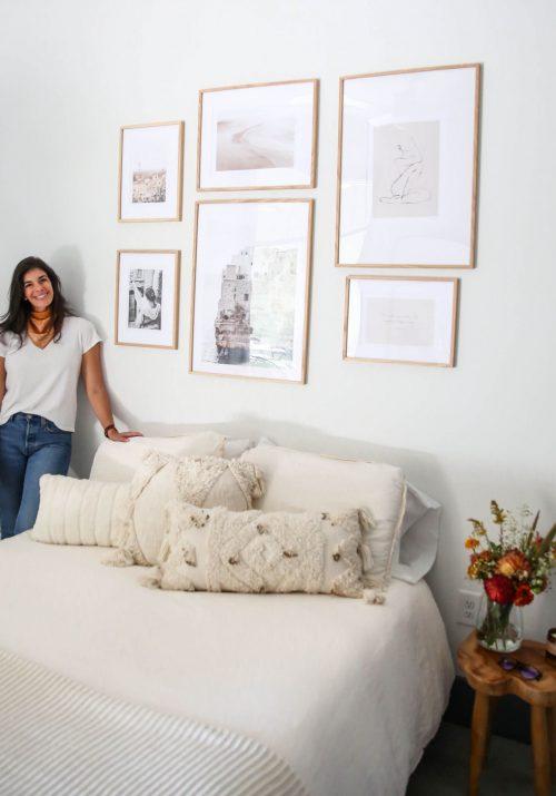 bedroom gallery wall - Lauren Schwaiger lifestyle blog